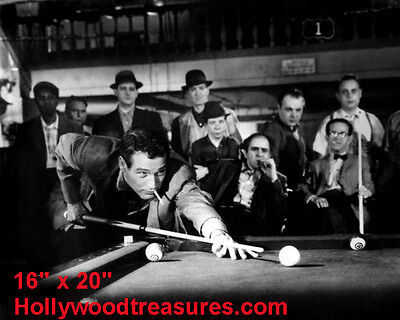 "Paul Newman~Hustler~Billiards~#5~Shooting Pool~Playing Pool~Photo~Poster 16""x20"""