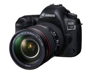 NEUF Canon 5D Mark IV avec objectif EF 24-105mm f/4L IS II USM