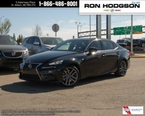 2014 Lexus IS 350 BLACK ON RED NICE UNIT