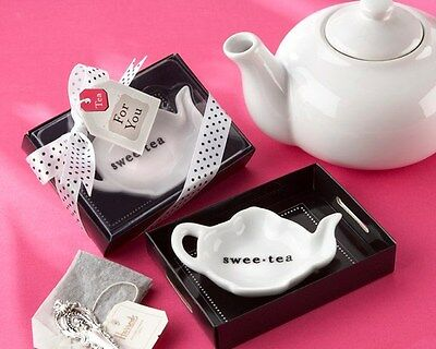 24 Swee-Tea Ceramic Tea Bag Caddy Bridal Shower Wedding -