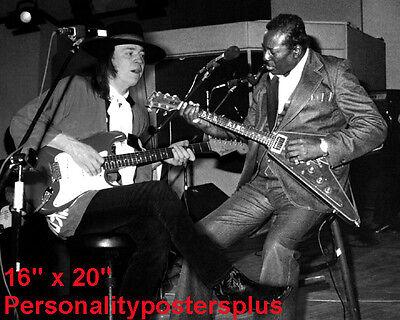 "Stevie Ray Vaughan~Albert King~Blues Guitarist~Photo~ Poster~ 16"" x 20"""