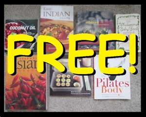 Books (Asian/Indian Cuisine, Cooking, Pilates) --- FREE !!!!!!!!