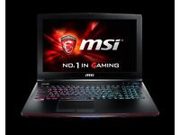 Msi GE62 6QL APACHE -210UK 15.6'' I7-6700HQ 8GB RAM 1TB 2GB GRAPICS CARD NEW BOXED GAMING LAPTOP