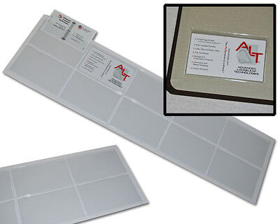 100-pack Self Adhesive Business Card Holder - Pockets Open Long Side Peel Stick