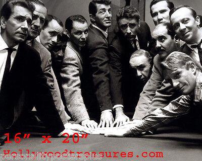 Ratpack~Martin~Sinatra~Playing Pool~Billiards~Shooting Pool~Poster~Photo~16x20