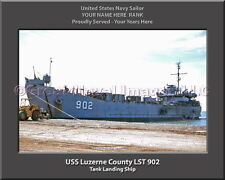 USS Tom Green County LST 1159 Personalized Canvas Ship Photo Print Navy Veteran
