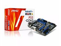 msi p55-gd65 motherboard boxed as pictured with Intel i7 860 CPU