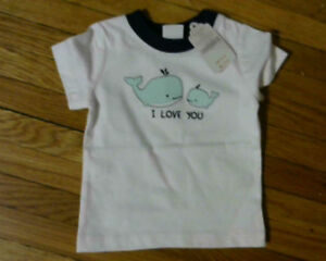 Baby Boy Gymboree Whale Love Tee[new] 3-6 month