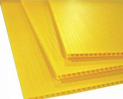 25 Pack Corrugated Plastic 24 X 18 4mm Yellow Blank Sign Sheets Horizontal