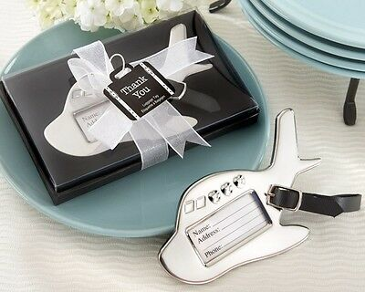 1 Airplane Plane Luggage Tag Wedding Favors Reception Gift Favor Suitcase Travel Luggage Tag Wedding Favors