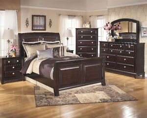 SOLID WOOD SLEIGH QUEEN OR KING BED FOR $849 (QUEEN)