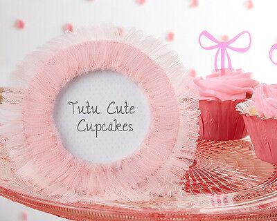 Tutu Cute Baby Shower (Tutu Cute Pink Tulle Round Photo Frames Baby Shower)