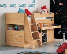 Gautier children's mid sleeper cabin bed