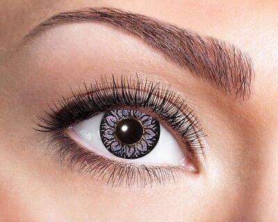 Natürliche Kontaktlinse mit Sonnenblumenmuster