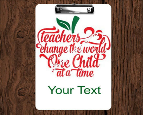 Personalized 2-Sided Dry Erase Teacher Clipboard w/Saying Teacher Apple Design