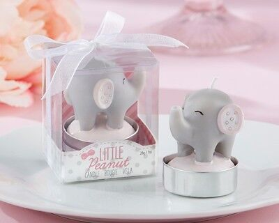 48 Pink Little Peanut Elephant Candle Baby Shower Birthday Party Gift Favors  (Elephant Candle Favors)