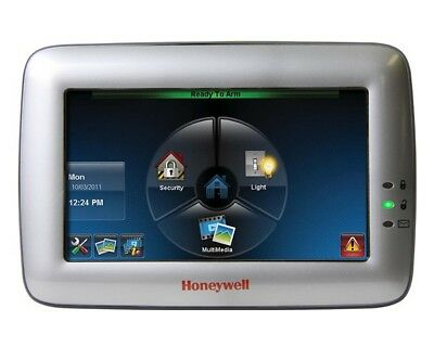 Honeywell 6280S TouchCenter Color Graphic Touchscreen Keypad (Silver) (Used) Color Touch Screen Keypad