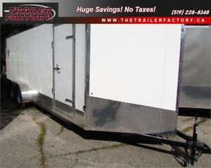New Cargo Trailer 7'x20' V-Nose White, Financing Available