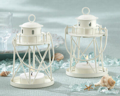 White Mini Lighthouse Lantern Beach Wedding Table Decor Party Favors MW30024 - Wedding Table Favors
