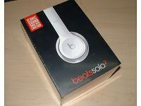 Beats solo2 headphones. White.