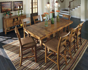 Counter Height Dining with 4 Chairs
