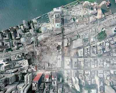 AERIAL VIEW OF WORLD TRADE CENTER SITE 8X10 PHOTO 9/11 - Craft Sites