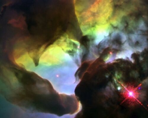 New 8x10 Space Photo: Hubble Image of Giant Twisters in the Lagoon Nebula