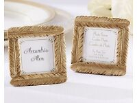 100 x New Gilded Gold Feather Frames - Place Name/ Favour / Wedding / Event