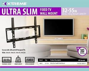 "XTREME 32"" -55"" Ultra Slim Fixed TV Wall Mount - 80lbs (40kg) - VESA 400mm x 400mm - Black - 18015"
