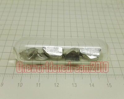 10g Purity 99.99 Pure Stannum Sn Tin Metal Sample Specimen In Glass Ampoule