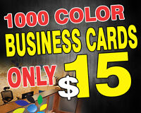 1000 Business Cards $14.95