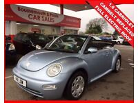 VOLKSWAGEN BEETLE 1.6 CABRIOLET 8V FULL ELECTRIC ROOF (blue) 2003
