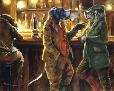 Mick Cawston Funny English Pointer Dog, fine art print . Get the Point