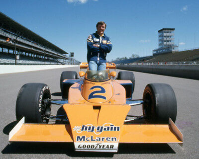 JOHNNY RUTHERFORD 1976 #2 MCLAREN INDY 500 8X10 GLOSSY PHOTO #6