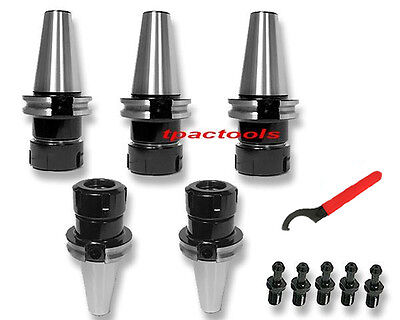 5pc Cat40 Er32 Precision Collet Chuck 20000 Rpm Haas Pull Stud Tenth Accuracy