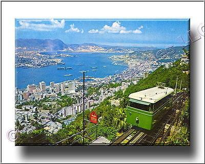 Post Card Art Hong Kong Navy Port in the 1960's Canvas Print 2D