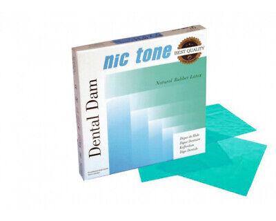 Nic Tone Natural Rubber Latex Dental Dam Green 6 X 6 Medium