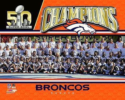 - 2016 Super Bowl 50 DENVER BRONCOS Team Peyton Manning, Von Miller++ 8x10 photo