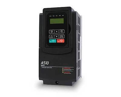 Teco Ac Drive A510-2005-c3 Vfd 5hp Motor Controler With Plc 3ph 230v Inout