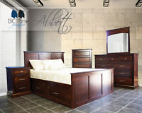 NEW CANADIAN MADE SOLID WOOD BEDROOM SUITES
