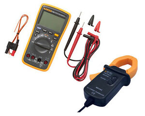 FLUKE-17B-PLUS-Digital-Multimeter-Backlit-Temp-Probe-AC-TRANSDUCER-Tester