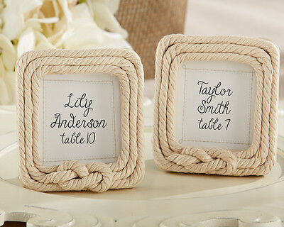 Tied With Love Rope Place Card Frames Nautical Ocean Themed Wedding Favors