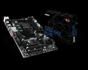 MSI 970A-G43 Plus AM3+/AM3 AMD 970/SB950 SATA 6Gb/s USB 3.1 ATX
