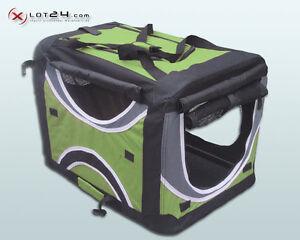 Faltbare Hunde Transportbox Auto Hundebox Box Größe M 4-farbig Grün Hund