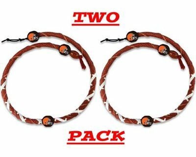 - NFL Classic Spiral Football Necklace Cleveland Browns 2 Pack NWT