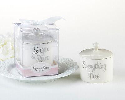 24 Sugar, Spice & Everything Nice Ceramic Sugar Bowl Baby Shower - Everything Baby Shower
