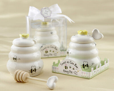 48 Sweet As Can Bee Ceramic Honey Pot Dipper Baby Shower Favors