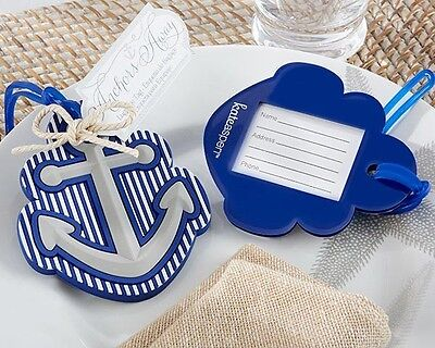 24 Anchor Away Nautical Themed Luggage Tag Destination Wedding Party Favor Gift