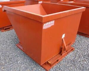 NEW SELF DUMPING STEEL HOPPER BIN GARBAGE TILT FORKLIFT 1.5 2 3