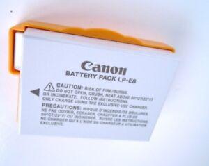 Pile Rechargeable D'Origine Canon LP-E8 T2i T3i T4i T5i T6i